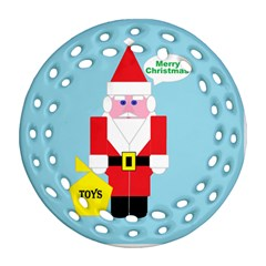 Santa Round Filigree Ornament (two Sides) by Contest1721280