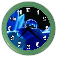 Waterdrop Wall Clock (color) by Siebenhuehner