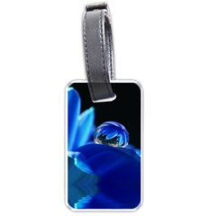 Waterdrop Luggage Tag (two Sides) by Siebenhuehner