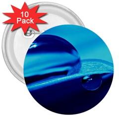 Waterdrops 3  Button (10 Pack) by Siebenhuehner