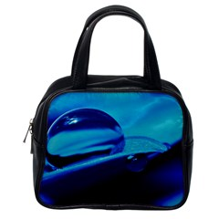 Waterdrops Classic Handbag (one Side) by Siebenhuehner