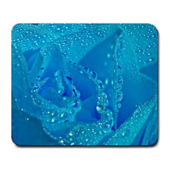 Blue Rose Large Mouse Pad (rectangle) by Siebenhuehner
