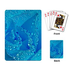 Blue Rose Playing Cards Single Design by Siebenhuehner