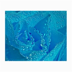 Blue Rose Glasses Cloth (small, Two Sided) by Siebenhuehner