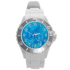 Blue Rose Plastic Sport Watch (large) by Siebenhuehner