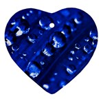 Waterdrops Heart Ornament Front