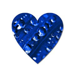 Waterdrops Magnet (heart) by Siebenhuehner