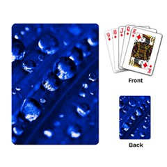Waterdrops Playing Cards Single Design by Siebenhuehner