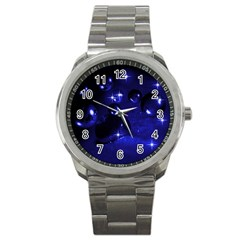 Blue Dreams Sport Metal Watch by Siebenhuehner