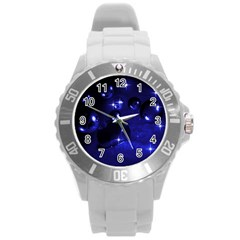 Blue Dreams Plastic Sport Watch (large) by Siebenhuehner