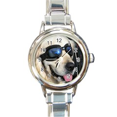 Cool Dog  Round Italian Charm Watch by Siebenhuehner