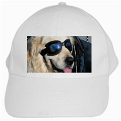 Cool Dog  White Baseball Cap by Siebenhuehner
