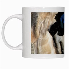 Cool Dog  White Coffee Mug by Siebenhuehner