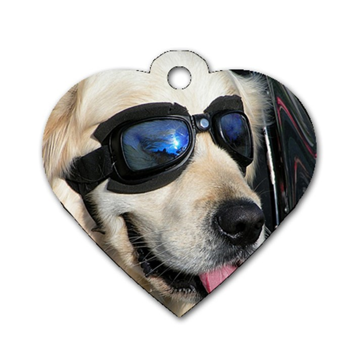 Cool Dog  Dog Tag Heart (Two Sided)