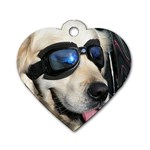 Cool Dog  Dog Tag Heart (Two Sided) Back