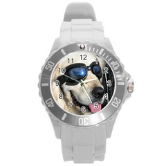 Cool Dog  Plastic Sport Watch (large) by Siebenhuehner