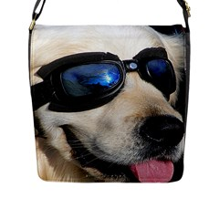 Cool Dog  Flap Closure Messenger Bag (large)