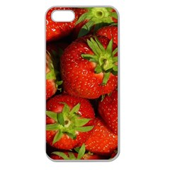 Strawberry  Apple Seamless Iphone 5 Case (clear) by Siebenhuehner
