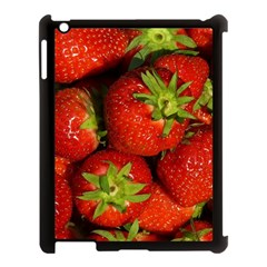 Strawberry  Apple Ipad 3/4 Case (black) by Siebenhuehner