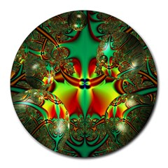 Magic Balls 8  Mouse Pad (round) by Siebenhuehner