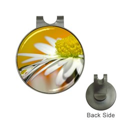Daisy With Drops Hat Clip With Golf Ball Marker by Siebenhuehner