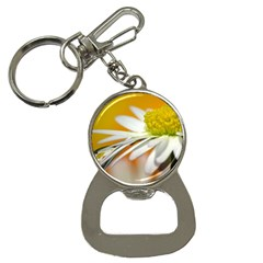 Daisy With Drops Bottle Opener Key Chain by Siebenhuehner