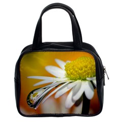 Daisy With Drops Classic Handbag (two Sides) by Siebenhuehner