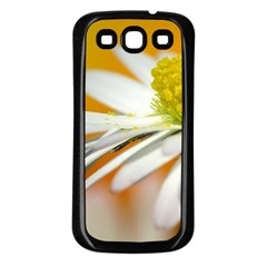 Daisy With Drops Samsung Galaxy S3 Back Case (black) by Siebenhuehner