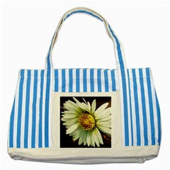 Daisy Blue Striped Tote Bag by Siebenhuehner
