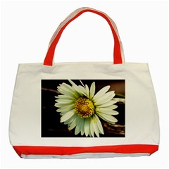 Daisy Classic Tote Bag (red) by Siebenhuehner