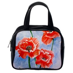 Poppies Classic Handbag (one Side) by ArtByThree