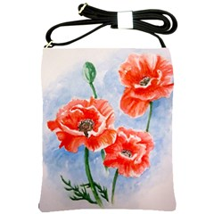 Poppies Shoulder Sling Bag by ArtByThree