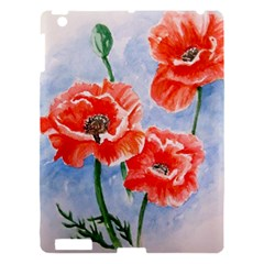 Poppies Apple Ipad 3/4 Hardshell Case by ArtByThree