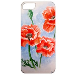 Poppies Apple Iphone 5 Classic Hardshell Case by ArtByThree