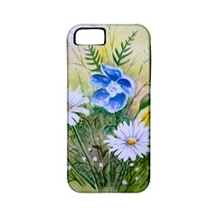 Meadow Flowers Apple Iphone 5 Classic Hardshell Case (pc+silicone) by ArtByThree