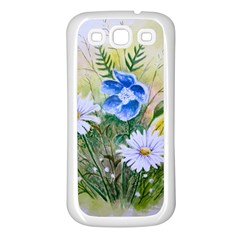 Meadow Flowers Samsung Galaxy S3 Back Case (white) by ArtByThree