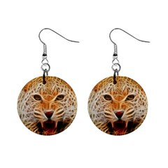 Electrified Fractal Jaguar 1  Button Earrings