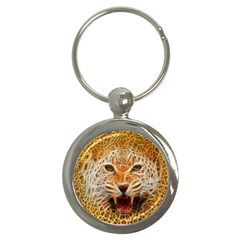 Electrified Fractal Jaguar Key Chain (round) by TheWowFactor