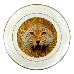 Electrified Fractal Jaguar Porcelain Plate by TheWowFactor