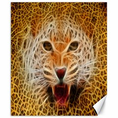 Electrified Fractal Jaguar Canvas 20  X 24  by TheWowFactor