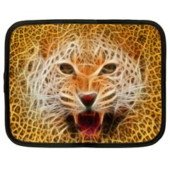 Electrified Fractal Jaguar Netbook Case (xl)