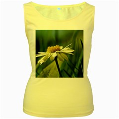 Daisy Womens  Tank Top (yellow) by Siebenhuehner