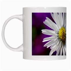 Daisy White Coffee Mug by Siebenhuehner