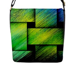 Modern Art Flap Closure Messenger Bag (large) by Siebenhuehner
