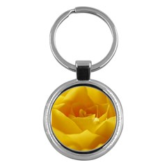 Yellow Rose Key Chain (round) by Siebenhuehner