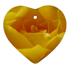 Yellow Rose Heart Ornament (two Sides) by Siebenhuehner