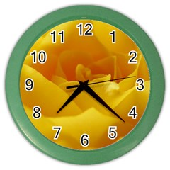 Yellow Rose Wall Clock (color) by Siebenhuehner