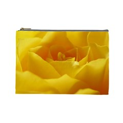 Yellow Rose Cosmetic Bag (large) by Siebenhuehner