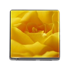Yellow Rose Memory Card Reader With Storage (square) by Siebenhuehner