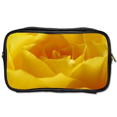 Yellow Rose Travel Toiletry Bag (one Side) by Siebenhuehner